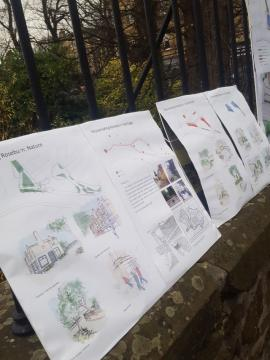 Displays at Roseburn consultation event on Old Coltbridge