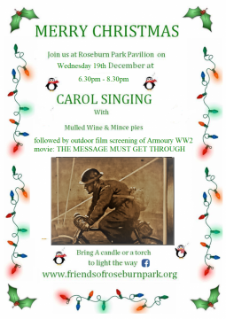 Friends of Roseburn Park Carol Singing flier