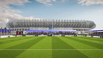 Artists impression of Edinburgh Rugby's plans for Murrayfield back pitches