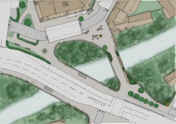 Plan sketch of Coltrbridge design option 2