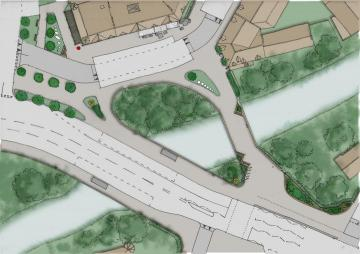 Plan sketch of Coltrbridge design option 3