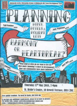Flier for planning hotels event
