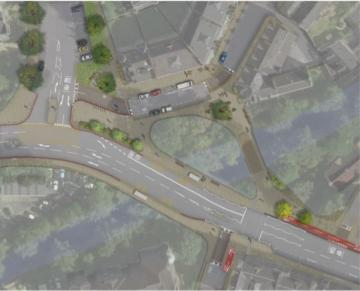Draft overhead view of planned Roseburn layout (option 3)