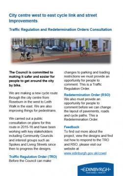 Image of City Council consultation leaflet