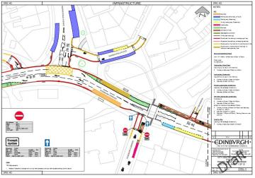 Draft Roseburn and Coltbridge Traffic Regulation Order plan