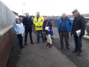 Photo lof ocal residents, Community Council and City Council Officers at Baird Grove floodgate 8 Nov 2019