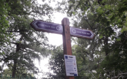 John Muir way sign below Rest and Be Thankful, Corstorphine Hill (c) John Yellowlees