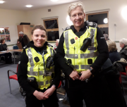 PC Smith & Sgt Watt at MurrayfieldCC meeting 14 January 2020