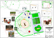 Plan map of one of the play park proposal designs