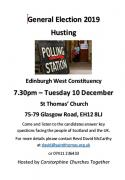 Flyer for General Election Hustings